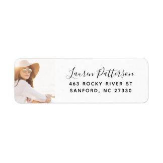 Glam Custom Photo Graduation Return Address Label