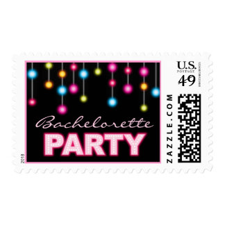 Glam Dance Lights Bachelorette Party Postage