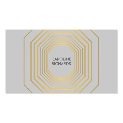 Glam Deco Jewelry Design Fashion Boutique No. 5 Business Card Templates