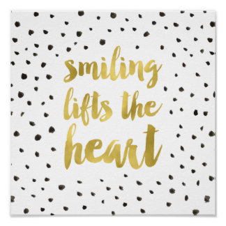 Glam Dots | Faux Gold Foil Calligraphy Quote Poster
