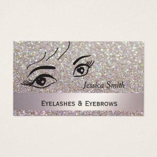 Glam  elegant glittery alluring heart eyes business card