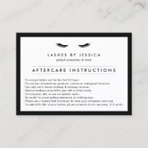Glam Eyelashes Classic Lash Salon Aftercare Card