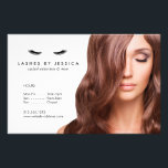 """Glam Eyelashes Classic Photo Price List Menu Flyer<br><div class=""""desc"""">Coordinates with the Glam Eyelashes Classic Business Card Template by 1201AM. Black eyelashes along with your name or business name are set on white background with black text on this customizable flyer template. The stock photo can be replaced with your own photo for added customization. These flyers were designed for...</div>"""