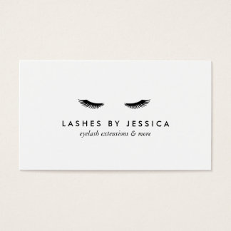 Glam Eyelashes Classic White Business Card