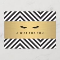 Glam Eyelashes with Bold Pattern Gift Certificate