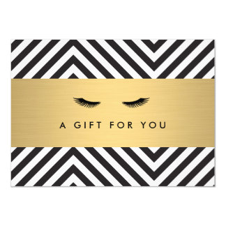 Glam Eyelashes with Bold Pattern Gift Certificate Card