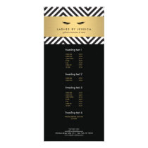 Glam Eyelashes with Bold Pattern Rack Card
