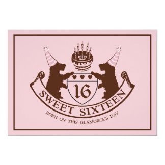 Glam Fashion Couture Girl Sweet Sixteen Birthday Card