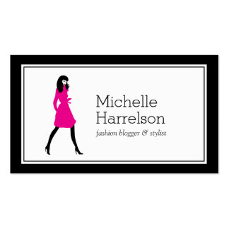 Glam Fashion Girl Style Blogger, Boutique Business Card