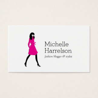 Glam Fashion Girl Style Blogger Business Card