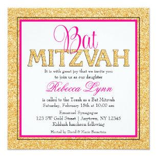 discount bar bat mitzvah invitations zazzle