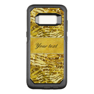 Glam Faux Gold Foil Zebra Pattern OtterBox Commuter Samsung Galaxy S8 Case