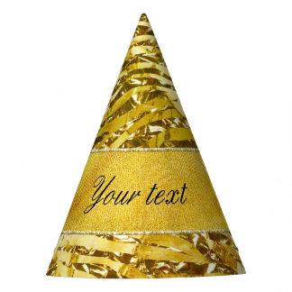 Glam Faux Gold Foil Zebra Pattern Party Hat