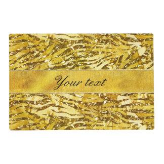 Glam Faux Gold Foil Zebra Pattern Placemat