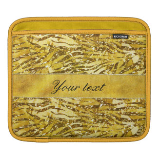 Glam Faux Gold Foil Zebra Pattern Sleeves For iPads