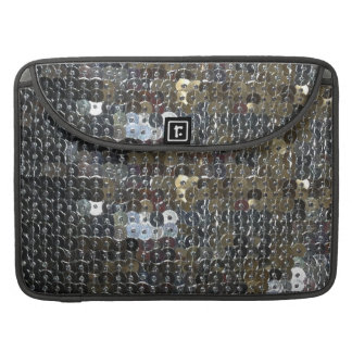 Glam Faux Silver Sequins Macbook PRO 15 Sleeve Sleeve For MacBook Pro