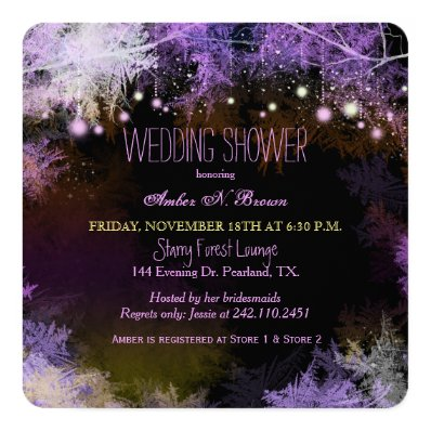 Glam Forest Lights Wedding Shower Invitation
