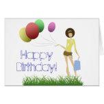 Glam Gal Birthday Card