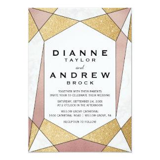 Glam Geometric Diamond Wedding Card