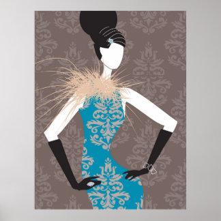 Glam Girl by Barbara B Poster
