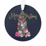 Glam Girly Shoes Purse Makeup Christmas Tree Ornament
