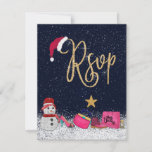 Glam Girly Shoes Purse Makeup Christmas Tree RSVP Card