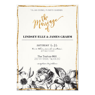 Vintage Style Invitation for Your Special Day
