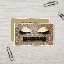 Glam Glitter Eyelash Extensions Makeup Artist Business Card