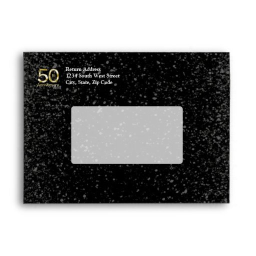 Glam Gold 50th Anniversary Envelopes