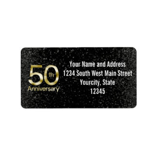 Glam Gold 50th Anniversary Labels