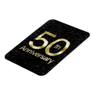 Glam Gold 50th Anniversary Magnet