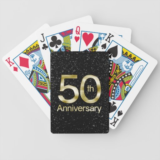 Glam Gold 50th Anniversary Bicycle Poker Cards