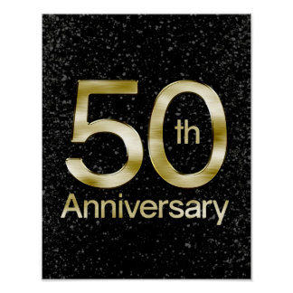 Glam Gold 50th Anniversary Poster