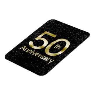 Glam Gold 50th Anniversary Rectangular Photo Magnet