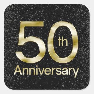 Glam Gold 50th Anniversary Square Sticker