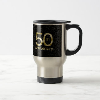Glam Gold 50th Anniversary Travel Mug