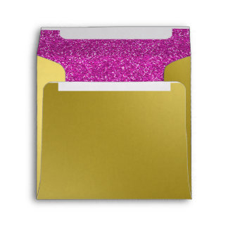 Glam Gold and Pink Glitter Envelope