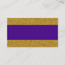 Glam Gold and Purple Wedding Place Cards