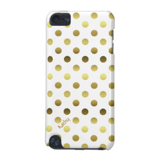 Glam Gold and White Polka Dot iPod Touch (5th Generation) Case