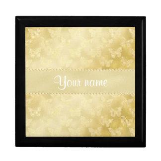 Glam Gold Butterflies Jewelry Box