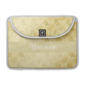 Glam Gold Butterflies MacBook Pro Sleeve