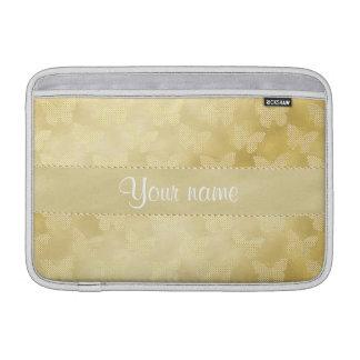 Glam Gold Butterflies MacBook Sleeve