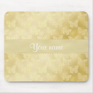 Glam Gold Butterflies Mouse Pad