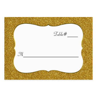 Glam Gold Glitter Look Wedding Place cards Large Business Card