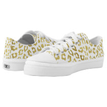 Glam Gold Leopard Print Low-Top Sneakers