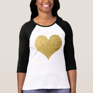 Glam Gold Lightly Dotted Heart T-Shirt