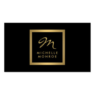 Glam Gold Monogram Business Card Pack Of Standard Business Cards