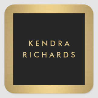 Glam Gold Name Logo Stickers