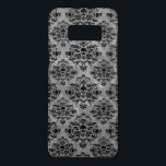 "Glam Goth Mini Skull Damask Pattern Black Gray Case-Mate Samsung Galaxy S8 Case<br><div class=""desc"">Check out this darkly pretty new damask pattern featuring miniature skulls in black and gray. Love the Addams Family,  halloween or gothic style?</div>"