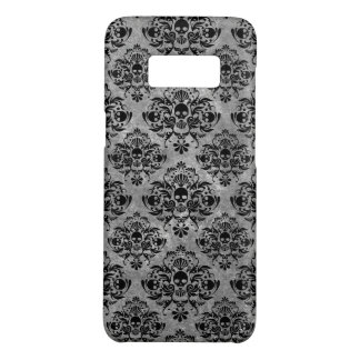 Glam Goth Mini Skull Damask Pattern Black Gray Case-Mate Samsung Galaxy S8 Case